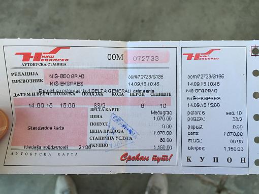 Niş'ten Belgrad'a Otobüs Bileti