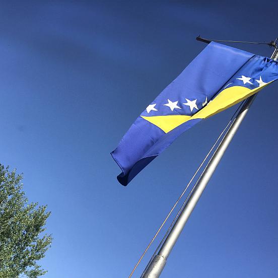Sırbistan Bosna Sınırı, Bosna-Hersek Bayrağı