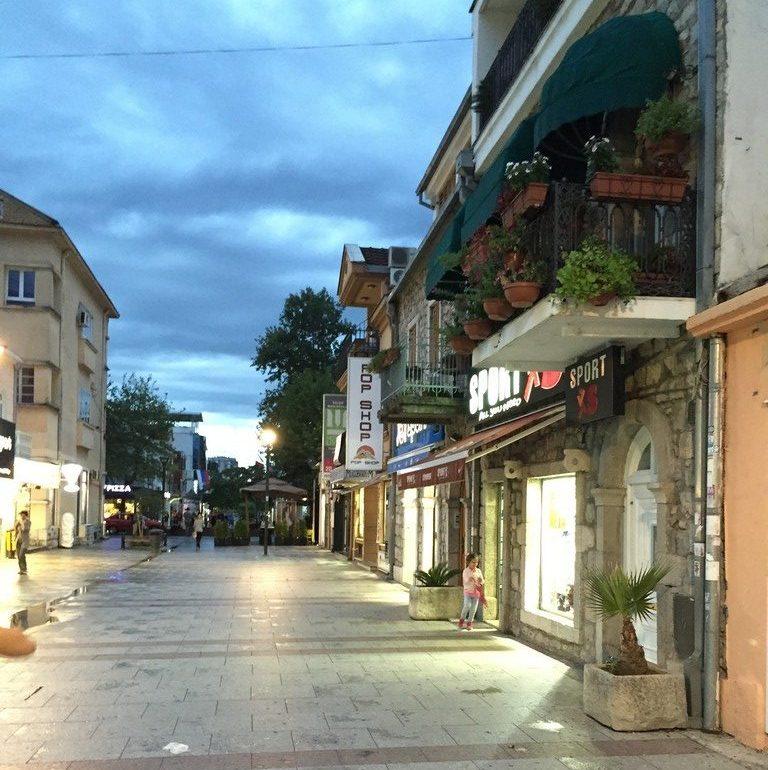 Şehirden Bir Görünüm, Hercegovacka Caddesi, Podgorica