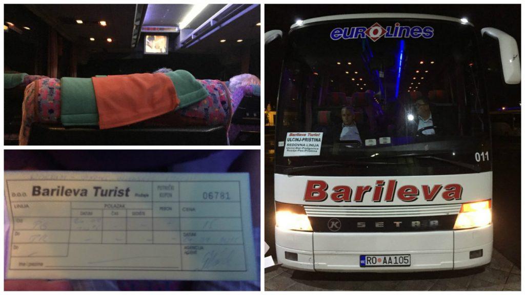 Barileva Otobüs, Podgorica'dan Priştine'ye