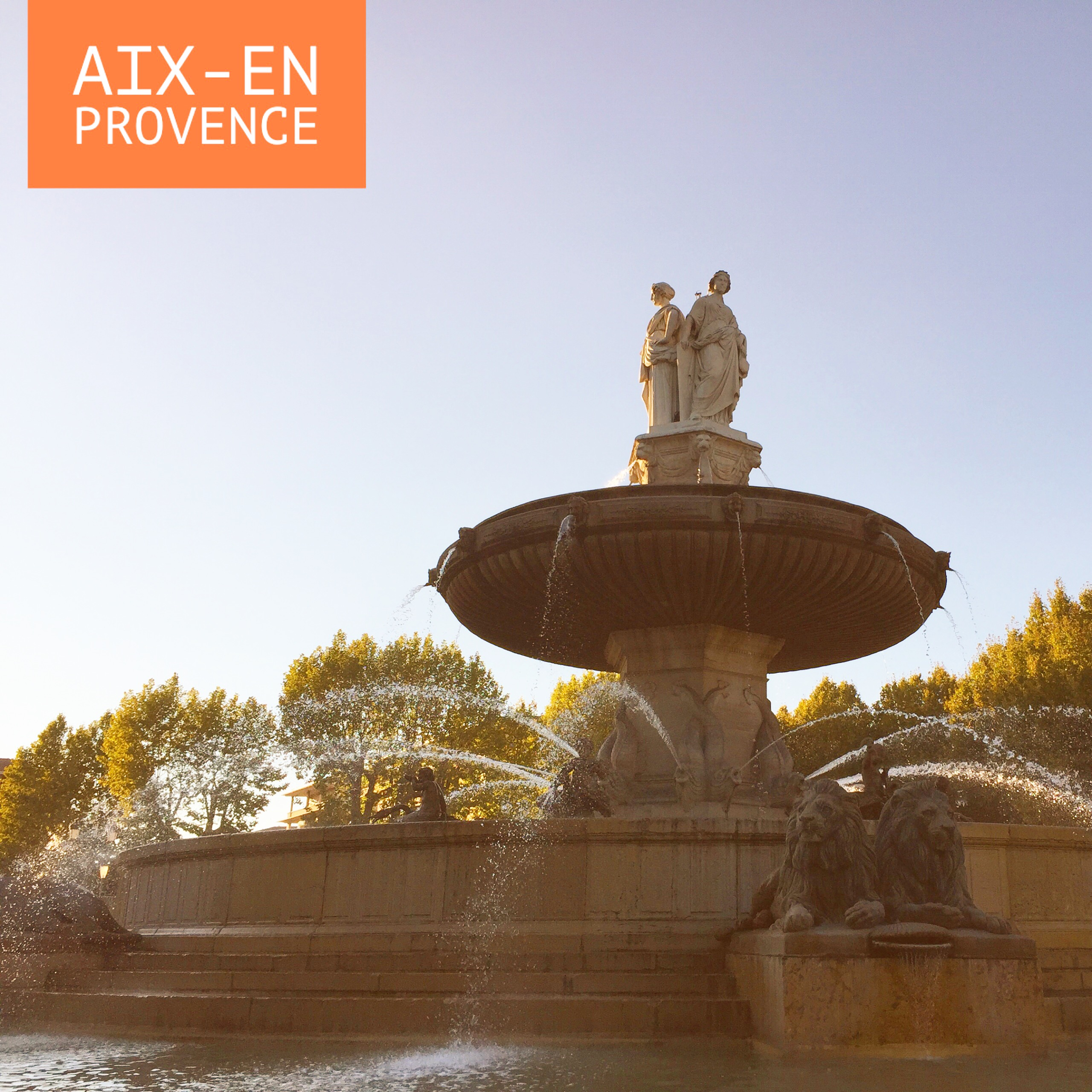 Aix-En Provence Rotonda Çeşmesi